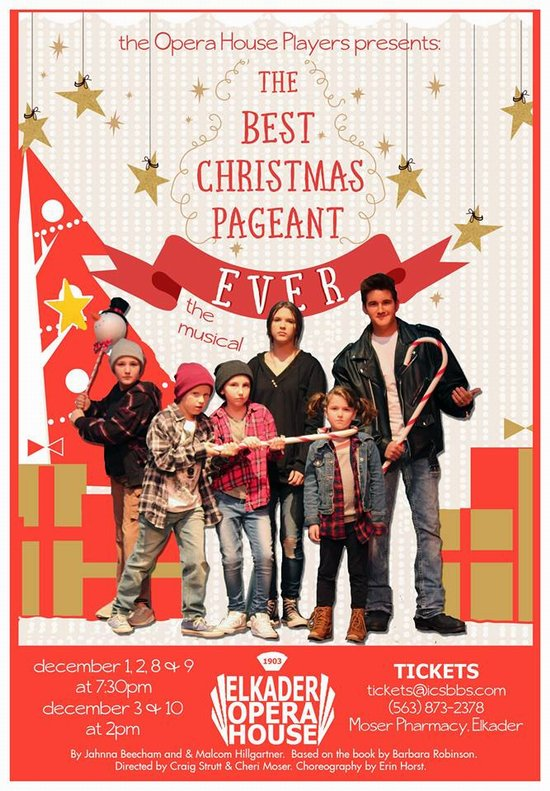 the opera house players present the best christmas pageant ever the musical - The Best Christmas Pageant Ever Book